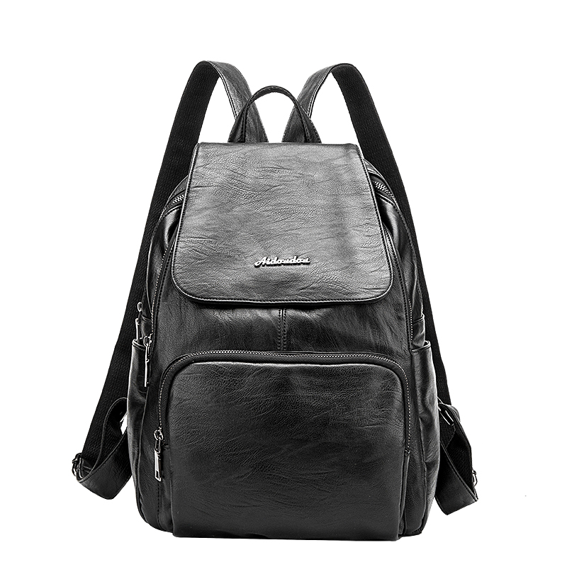 Designer Women's Backpacks Genuine Leather Female Backpack Women School Bag For Girls Large Capacity Shoulder Travel Mochila women genuine leather backpack luxury soft solid large capacity school bag ladies travel backpacks sac a dos mochila 2017 new