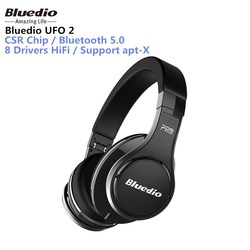 Bluedio UFO 2 High-end Bluetooth Headphone 3D Sound HiFi 8 Drivers Wireless Smart Cloud Headset supported APTX and Voice Control