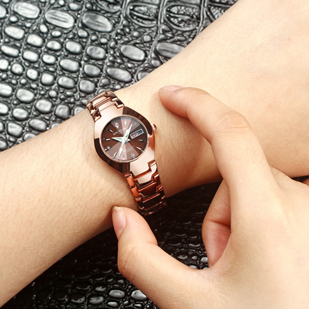 Часы для влюбленных Роскошные Кварцевые наручные часы для мужчин и женщин Hodinky Dual Calender Week steel Saat Reloj Mujer Hombre парные часы