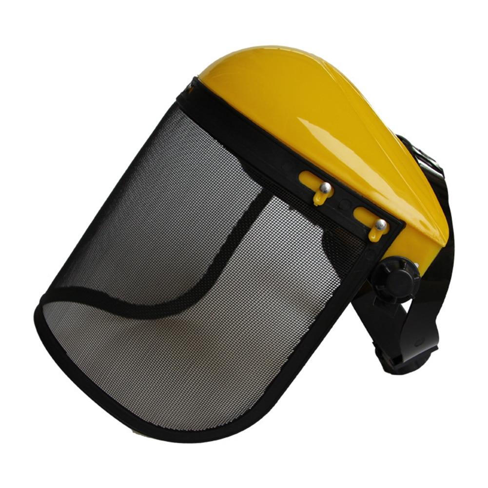 Grass Trimmer Protective Mask Full Face Mesh Splash Proof Helmet Visor Adjustable Hat Garden Metal Easy Use Safety Forestry(China)