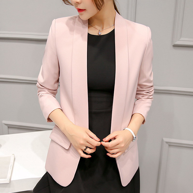 2018 autumn and winter new women Cardigan small suit jacket Korean wild small suit Slim large size fashion was thin suit jacket