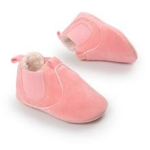 Karštas pardavimas! Šilti žiemos kūdikių batai romius nubuck Kūdikių bateliai naujagimiui didmeninės rožinės mergaitės batai 0 ~ 18mėn