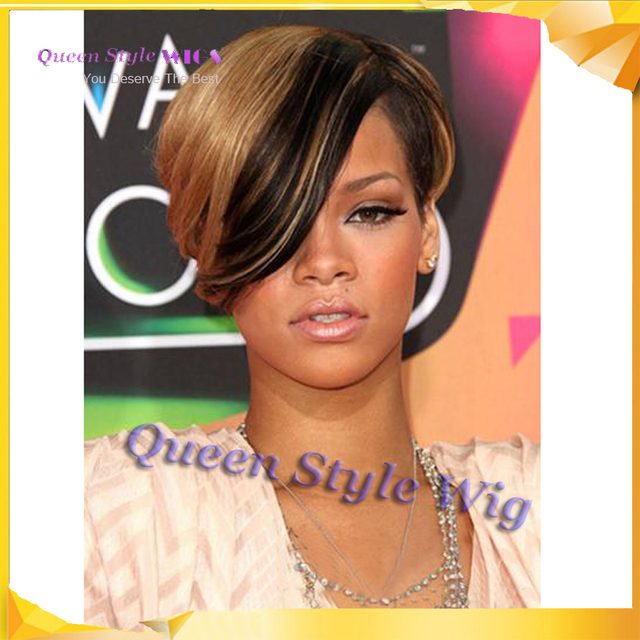 Latest Trend Well Designed Celebrity Rihanna Hairstyle Synthetic