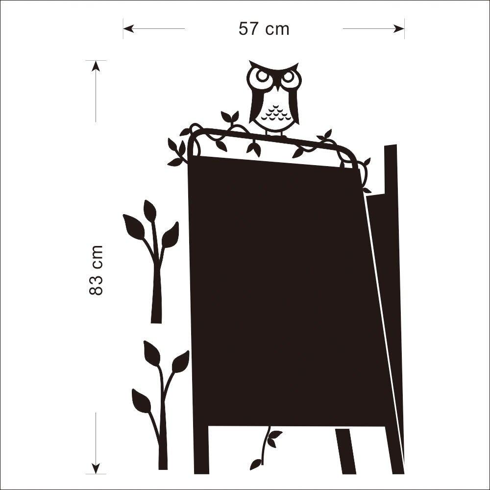 57x83cm Art Owl Stand Blackboard Removable Vinyl Wall Sticker Chalkboard Decal Wall Paper Kids Room Wall Sticker A 195 in Wall Stickers from Home Garden
