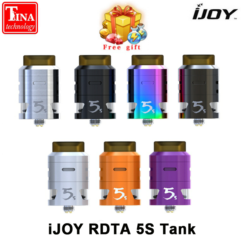 In Stock! Original iJOY RDTA 5S Tank 2.6ml Innovative Central Top Fill Aiflow Atomizer for Electronic Cigarette 18650 Box Mod