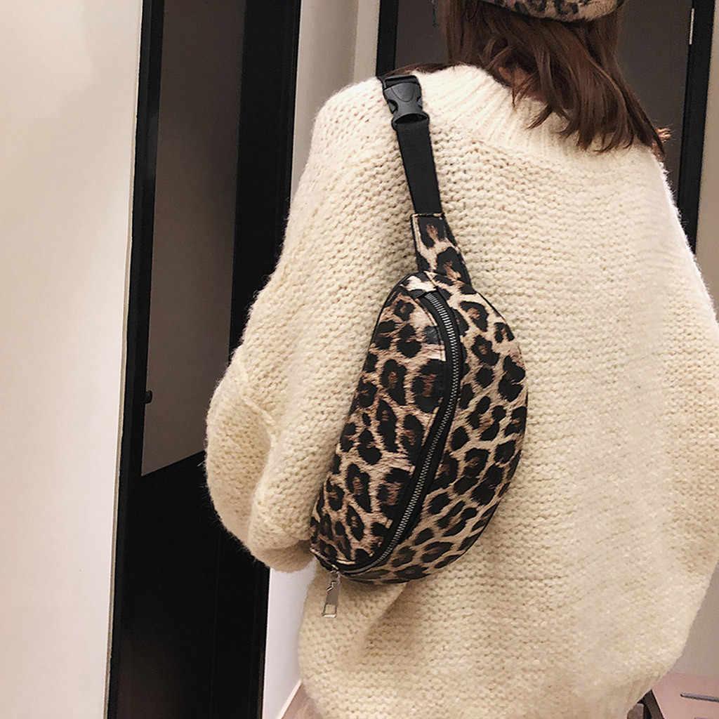 Sacs pour femmes 2019 neutre extérieur Zipper imprimé léopard Messenger sac Sport poitrine sac taille sac sacos de mujer #25