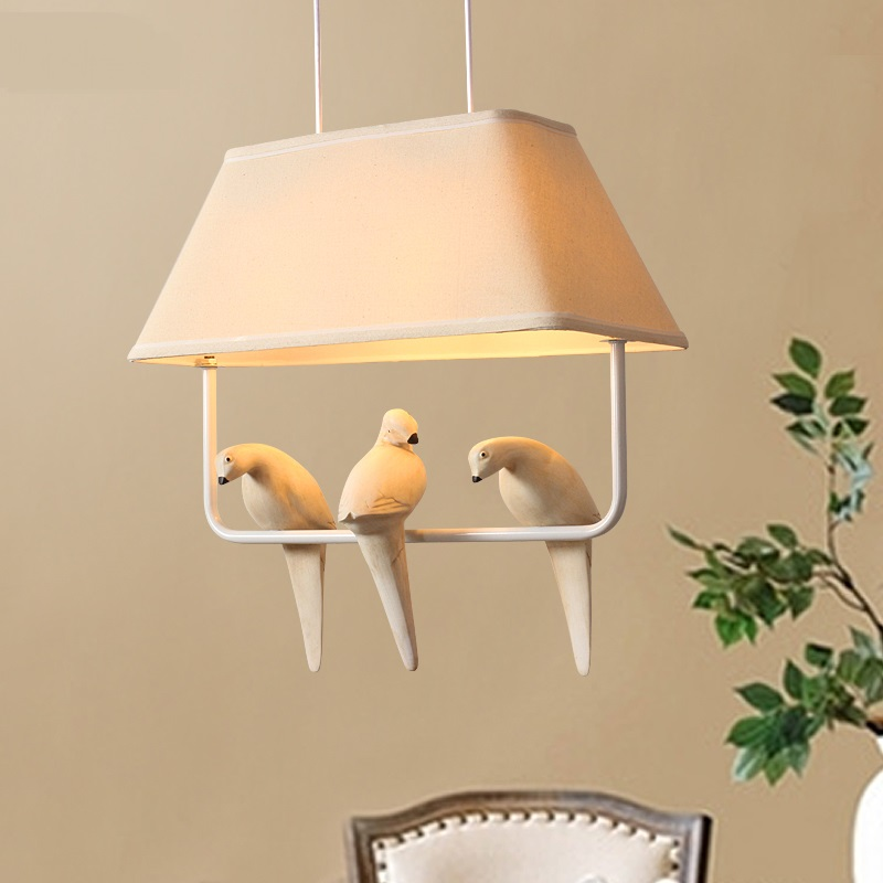 American bird pendant light creative living room dining lounge Mediterranean rural bedroom simple modern personality lamp FG900 apple creative acrylic laser light living room bedroom dining room den diameter 60cm ac220v