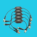 5pcs CCTV Balun Ground Loop Isolator Coaxial BNC Male to Female for Audio Video Anti-Interference  Ground Loop Isolator