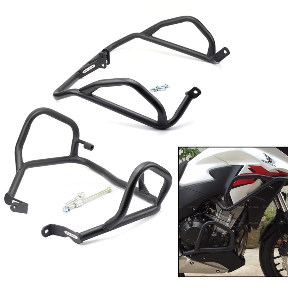 FOR HONDA CB 500X/CB 400X 2013-2017 Middle Crash Bar Extension Engine Protection Frame Crash Bar Bumper Motorcycle Accessories прокладки клапанной крышки honda vtr1000f