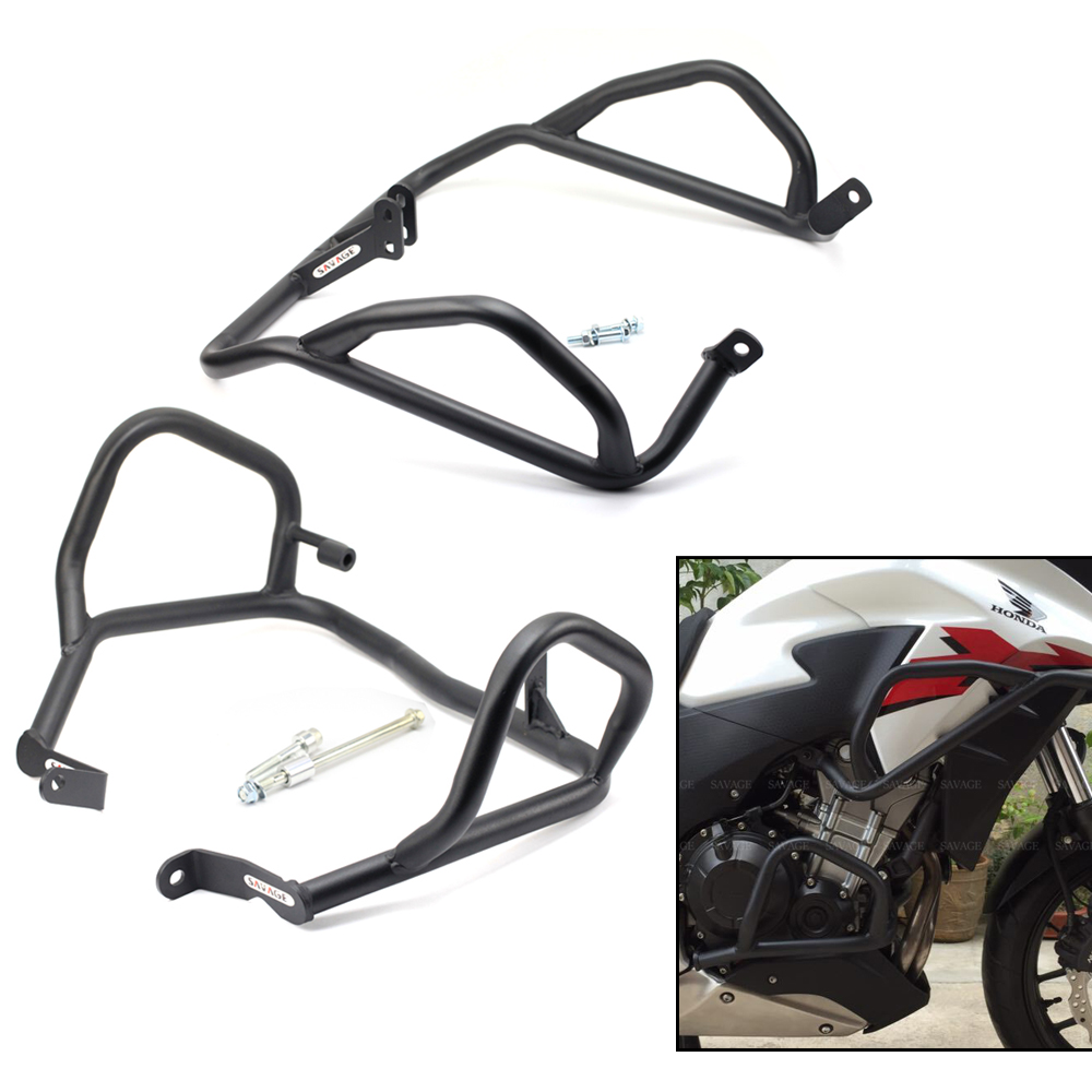 FOR HONDA CB 500X/CB 400X 2013-2018 Middle Crash Bar Extension Engine Protection Frame Crash Bar Bumper Motorcycle Accessories for honda cb 500x cb 400x cb 500f cb 400f 2013 2014 2015 2016 2017 2018 engine frame crash bar bumper motorcycle accessories