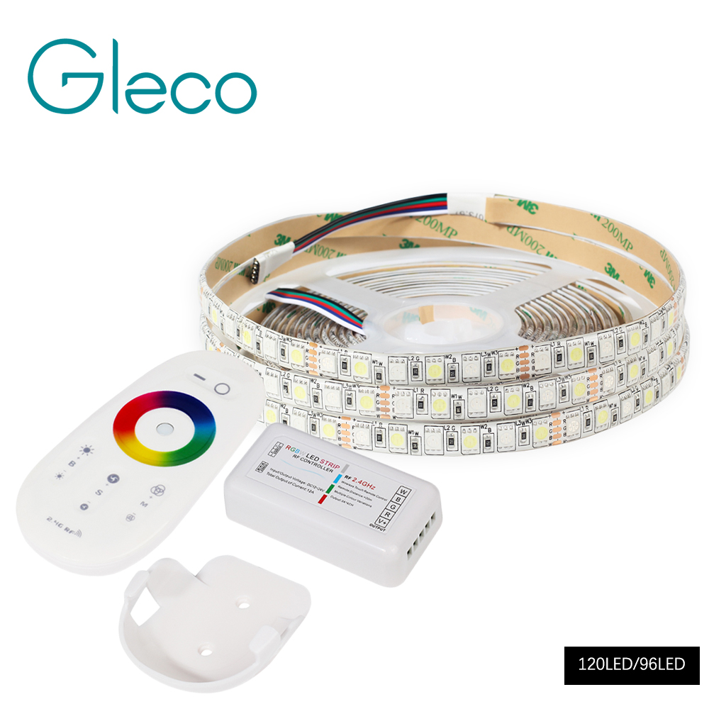 5M DC12V LED Strip 5050 SMD RGB, RGBW, RGBWW 96LED/m White, Warm white 120LED/m 5050 LED Flexible Strip Light IP20 / IP65 5m 300pcs 5050 smd leds 72w 2000lm ip65 waterproof highlight decoration black strip lamp warm white light