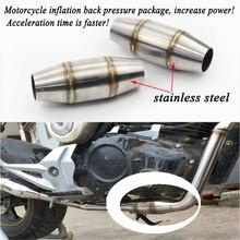 155x35 мм Универсальный мотоцикл сжатия выхлопной глушитель