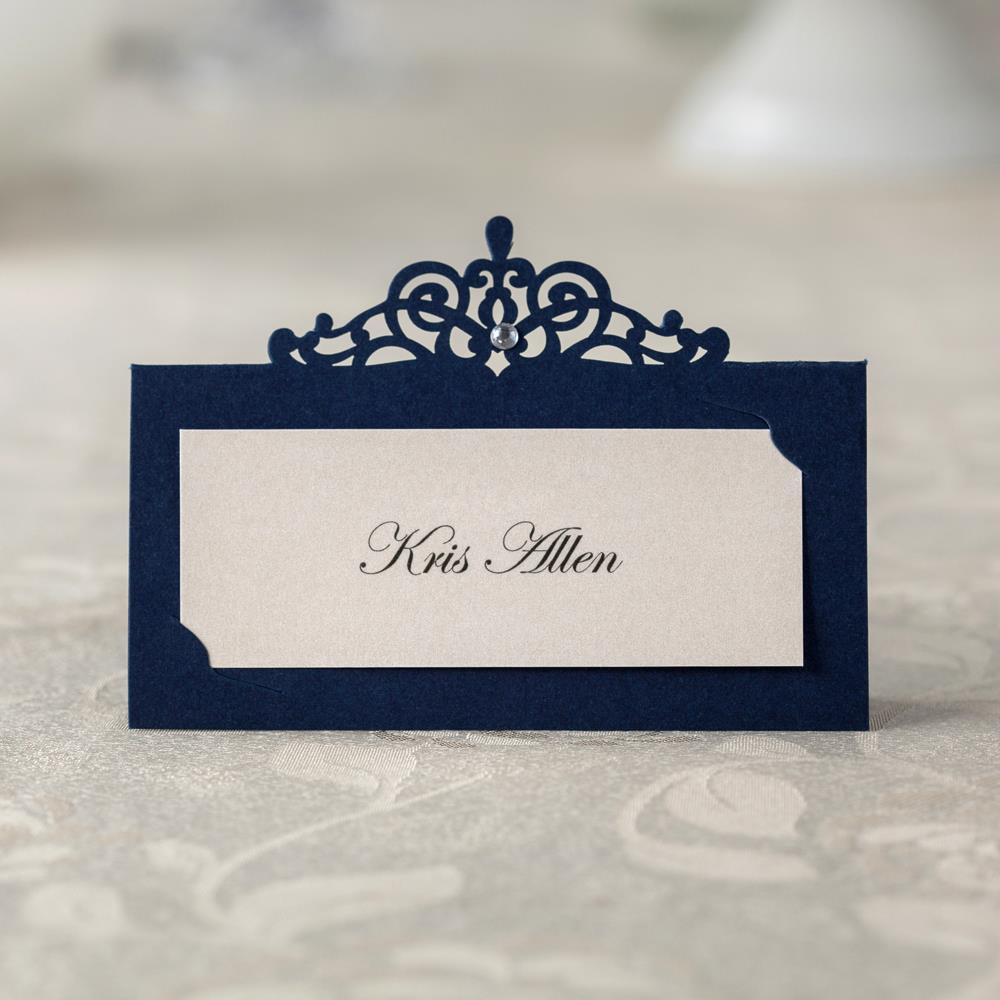 24 PCS Blue Paper Table Number CardName