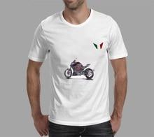 KODASKIN Мотоцикл Стиль Т рубашки Мужчин Летние Мужская Мода Повседневная Коротким Рукавом О-Образным Вырезом Мужчины Tee для Diavel Италия