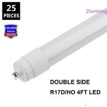 цена на 360 degree Emitting T8 Double Side LED tube lights G13 R17D Rotating 4ft 28W 6ft 42W 8ft 65w Sign Box Lighting LED Lights