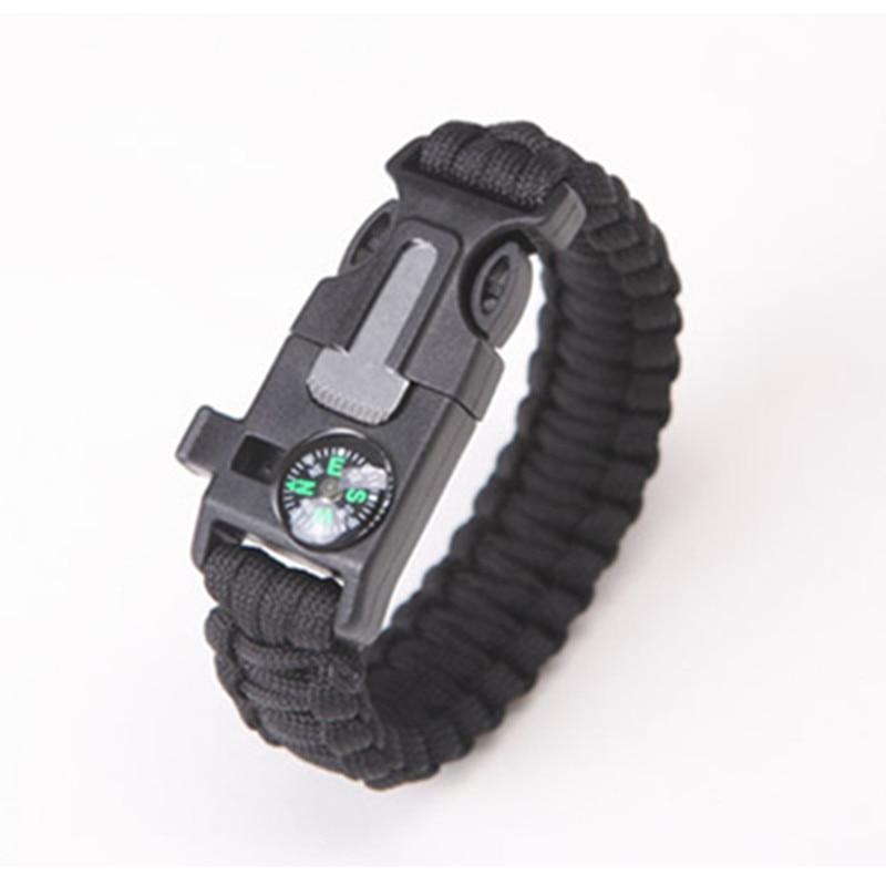 Military Emergency Paracord Tools Survival Bracelet Parachute No Flint Outdoor Scraper Whistle Buckle For Jewelry Men & Women