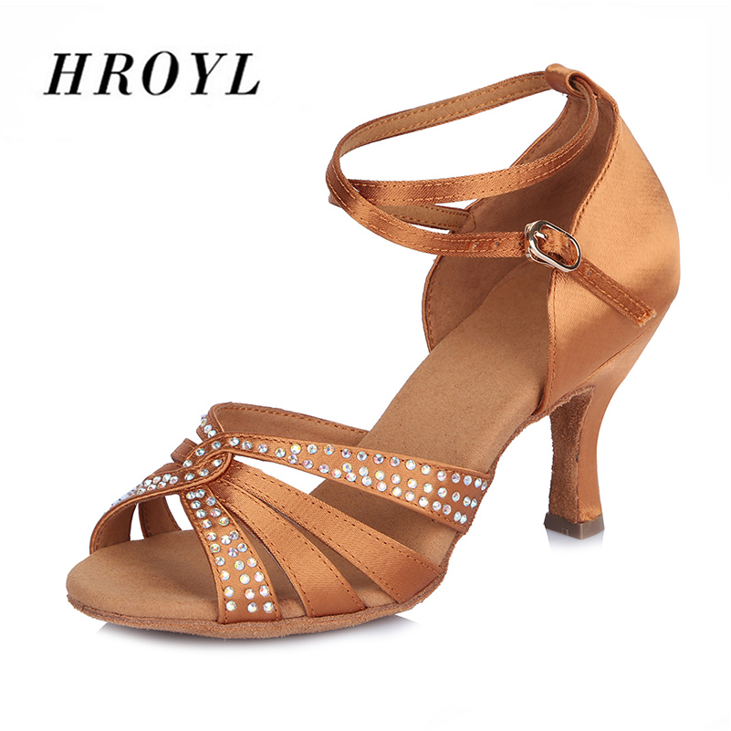 New arrival Ladies Latin dance shoes exquisite satin diamond ballroom dancing shoes for Women/Girls ld69 1110 ladies ballroom latin dance shoes crystal diamond dance shoes fast shipping worldwide