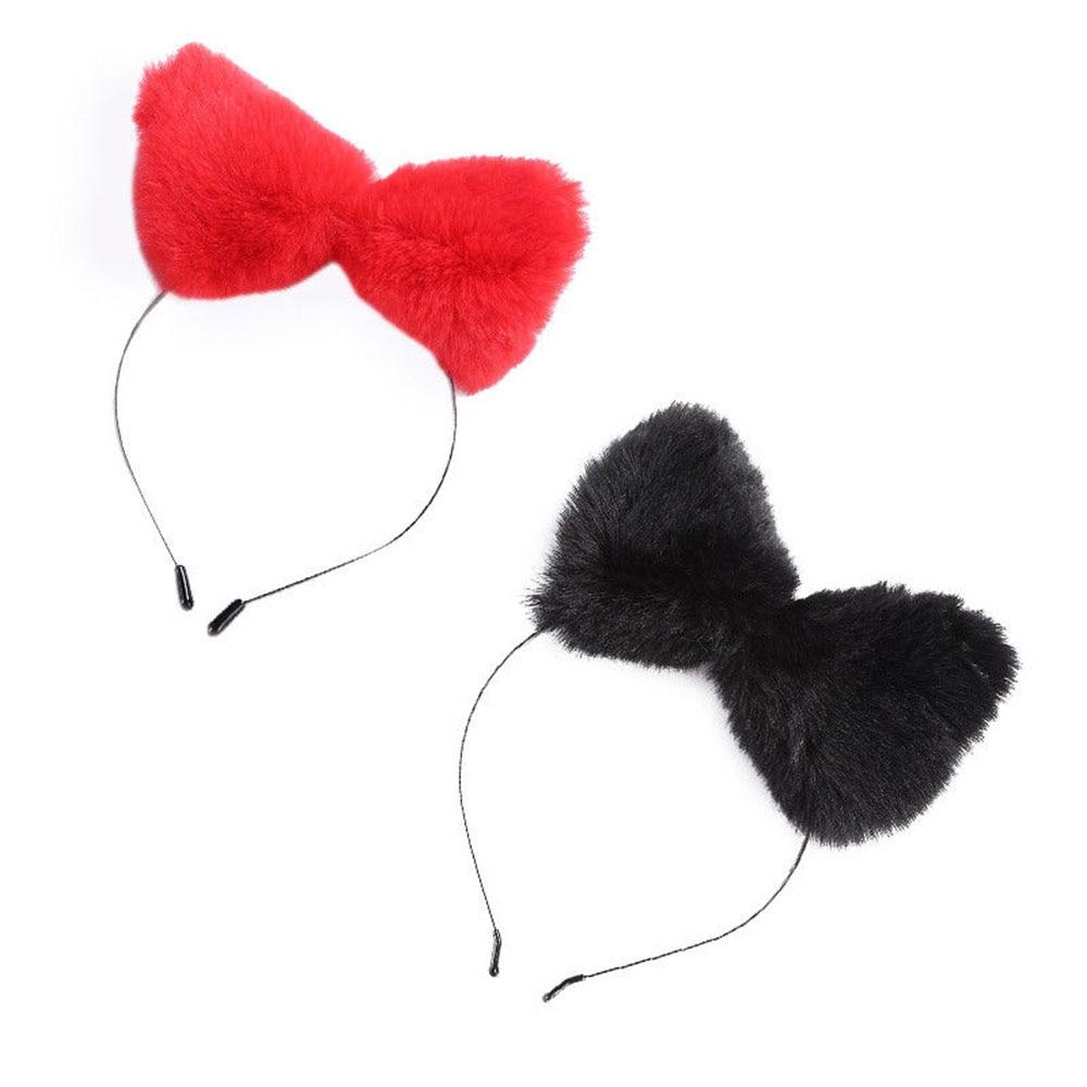 Hot Girl/'s Women Furry Cat Fox Ears Prop Headband Hairband for Cosplay Party PHX