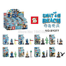 Wholesale SY277 Super Heroes Avengers Snatch Beach Minifigures Snatch Beach Boom Beach Stationed Bricks Toys