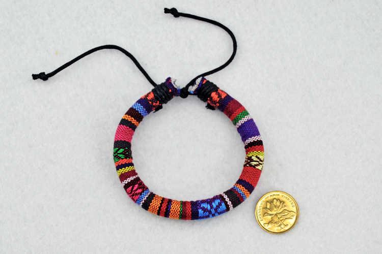 כותנה ופשתן נשים קסם צמידי אביזרים בעבודת יד מקורי DIY תכשיטים # EZ211