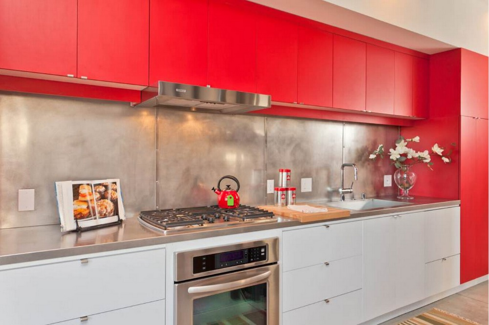 2017 newest design high gloss lacquer kitchen cabinets red ...