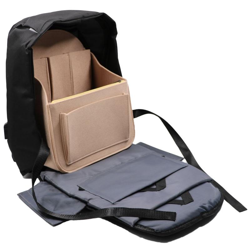 Felt Travel bag Insert Backpack Organizer, Purse Organizer For Men,Women Backpack For Mummy Shoulder Tote Bags Handbag Organizer
