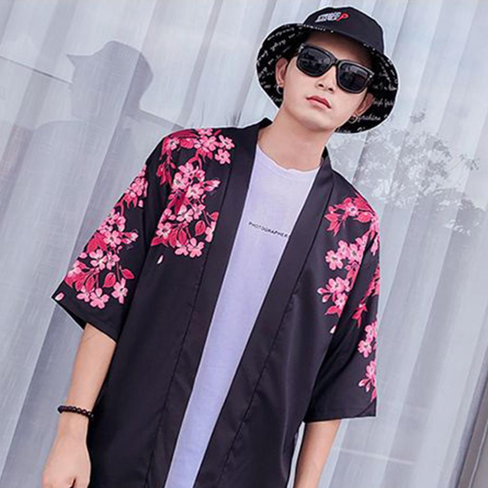 Fashion Vintage Koi Pattern Kimono Chinese Style tops Loose Sleeve Cotton Shirts