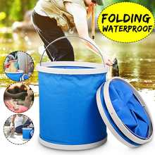 11L Oxford Portable Folding Outdoor Bucket Basin for Camping Hiking Travelling Fishing Washing Multifunctional(China)
