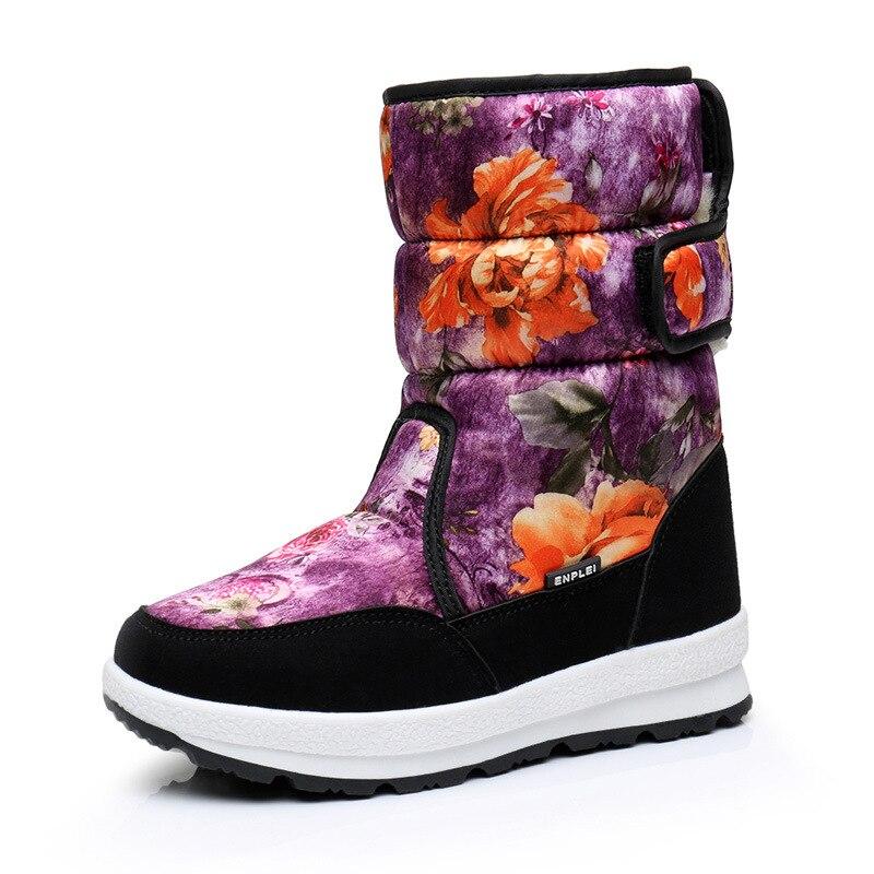 Mioigee 2018 Girls Winter Snow Boots Children Shoes Kids Fashion Warm Snow Boots for Girls Soft Plush Bota Menina Warm Shoes