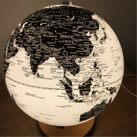 LED terrestrial globe English diameter 20cm Home office Decoration Lamp Gift