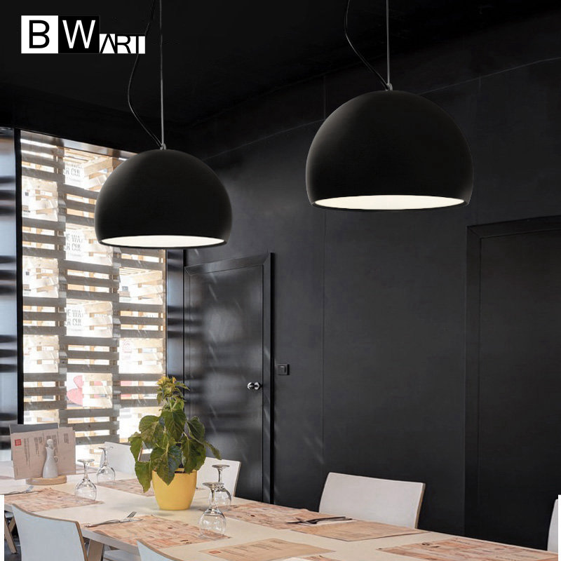 BWART Haging Pendant Lights Hemisphere Pendant Lamp Black White Lamp Shade  For Modern Bar Restaurant Bedroom In Pendant Lights From Lights U0026 Lighting  On ...