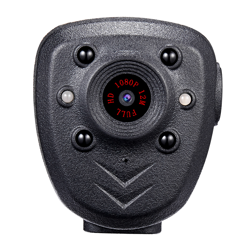 HD 1080P Police Body Lapel Worn Video Camera DVR IR Night Visible LED Light Cam 4-hour Record Digital Mini DV Recorder Voice 1 2