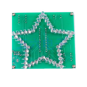 Image 4 - Colorido Estrella de Cinco Puntas LLEVÓ agua Luz 51 MCU luces LED electrónicos de producción DIY kit para enviar el programa