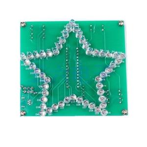 Image 4 - Kleurrijke Vijfpuntige Ster LED water Licht 51 MCU led verlichting elektronische DIY productie kit sturen de programma