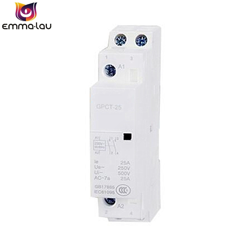Small AC <font><b>Contactor</b></font> GPCT-<font><b>25A</b></font> GPCT-20A GPCT-16A 1P/2P <font><b>220V</b></font> Single Phase Din Rail High Power Relay Household Home Hotel Resturant image