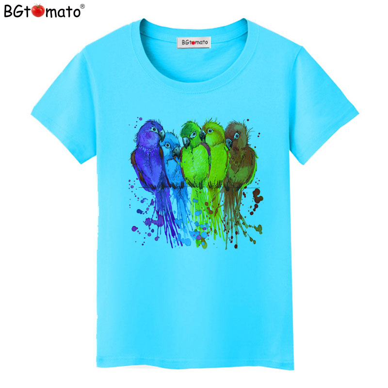 Футболка BGtomato, цветная Радужная футболка для женщин, красивая художественная работа, одежда, лидер продаж, комфортная футболка для женщин