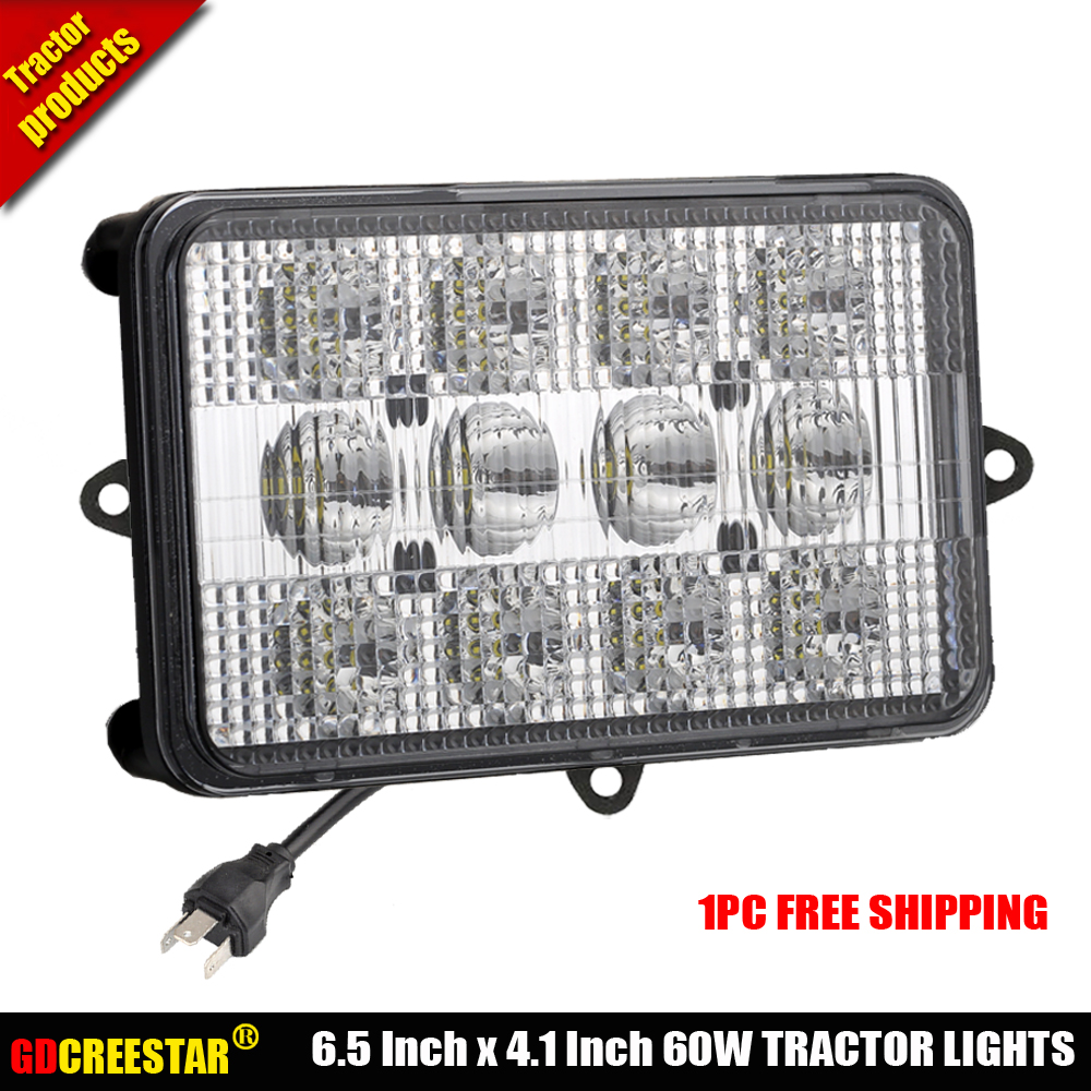 6x4 led tracteur lumières 60 W 12 V Led faisceau scellé avec feux de croisement led travail feux de route utilisés pour combine x1pc livraison gratuite