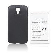 I9500 7600 мАч Расширенный телефон коммерческий резервного копирования Батарея для Samsung Galaxy S4 i9500 сотовый телефон nfc Batteria + черный назад Чехол
