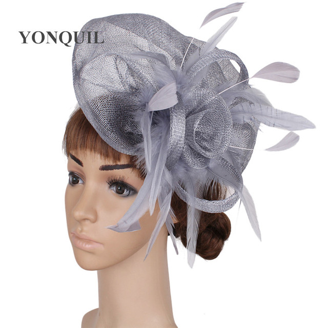 Ladies elegant feather sinamay hats women hair accessories fancy fascinators  for wedding hats nice bridal hats and races MYQ086 fee695b0e8c