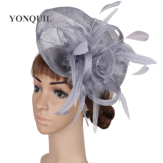 f8b1a2d9663af placeholder Ladies elegant feather sinamay hats women hair accessories  fancy fascinators for wedding hats nice bridal hats