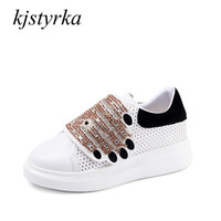 Kjstyrka 2018 Spring Autumn Women mixed Colors Diamond Casual Shoes comfortable Women's Red sneakers Ladies Shoes