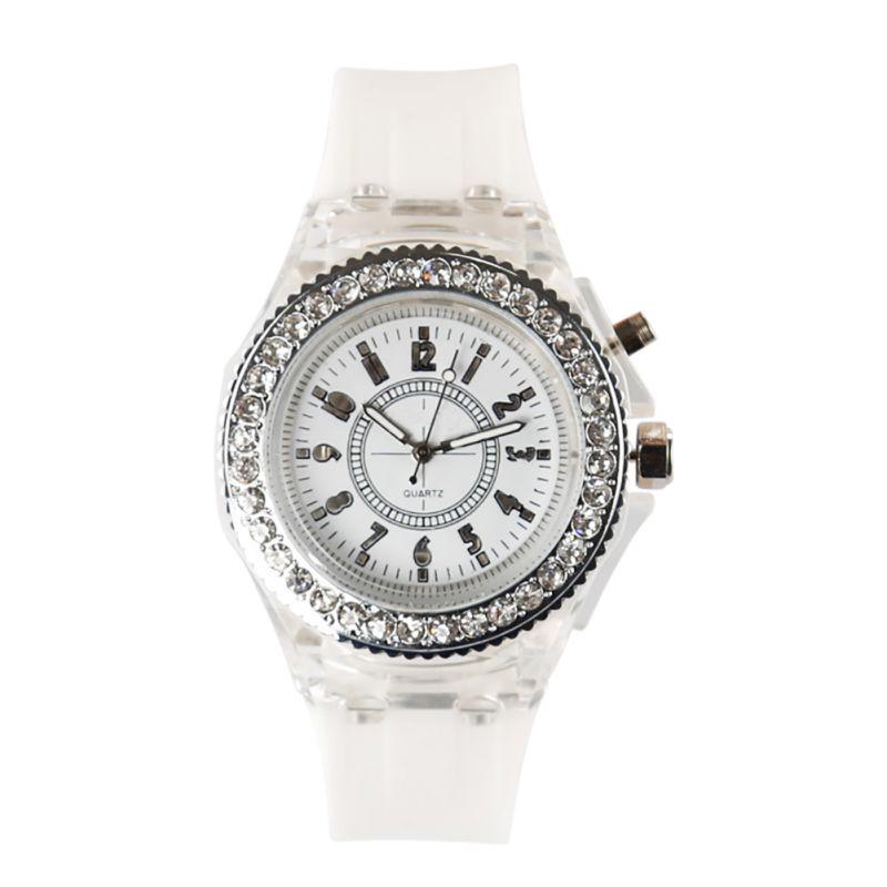 LED Подсветка Relogio masculino кристалл кварца Спорт Водонепроницаемый Наручные часы Montre Femme