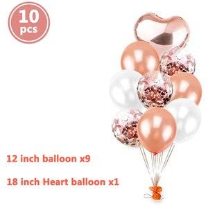 Image 2 - Globos de cumpleaños feliz para niños y adultos, decoración para fiesta de Baby shower, suministros de 1 año, 10 Uds.