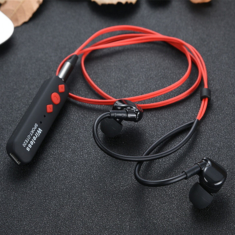 Wireless Sport Bluetooth Headset 4.1 Bass Headphones Stereo Hanging Ear Running earphones for phone  wireless music bluetooth headset 4 mini head wear sport ear hanging ear type 4 1 universal running stereo can insert card radio