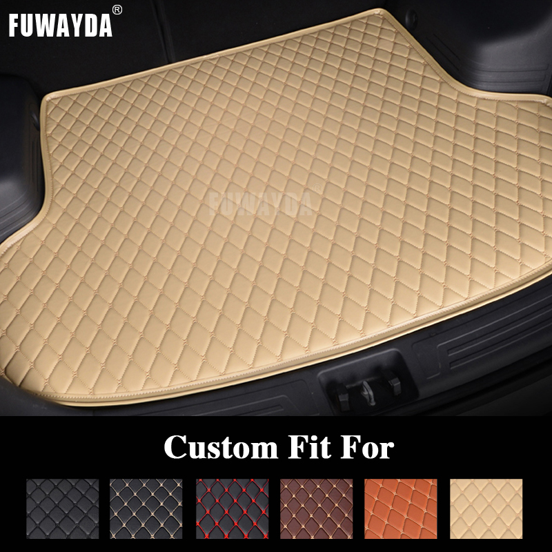 FUWAYDA car ACCESSORIES Custom fit car trunk mat for VOLVO S60 2010-2015 years travel non-slip  waterproof Good quality custom good quality car trunk mat leather for volvo xc60 v40 v60 s80l s60l car styling tray carpet cargo liner travel camping