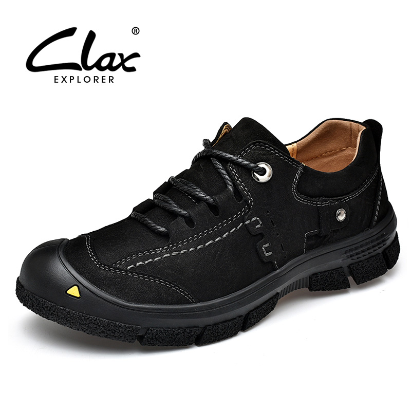 CLAX Men Leather Boots Spring Autumn Genuine Leather Ankle Boot Work Shoe Male Safety Shoe chaussure homme Soft clax men leather boots genuine leather spring autumn casual shoe male safety shoes work boot soft chaussure homme walking shoe