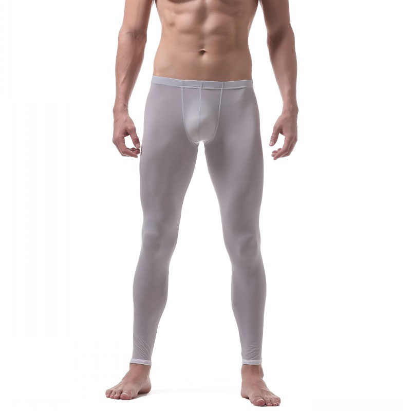 79be5c3a29 Long John Men Ice Silk Thermal Underwear for Men Thermo Long Underpants Male  Leggings Winter Warm