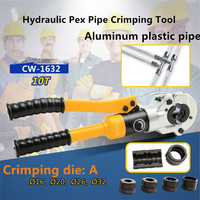 Hydraulic Pex Pipe Crimping Tool CW 1632 TH jaws Floor Heating Pipe Plumbing Pipe Pressure Pipe Clamp 10T with U16 32mm