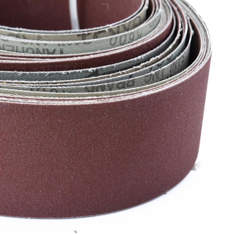 6pcs 2 X 72 Fine Grit Sanding Belt Sandpaper Sander Abrasive Band 5x 182cm Abrasive Tools