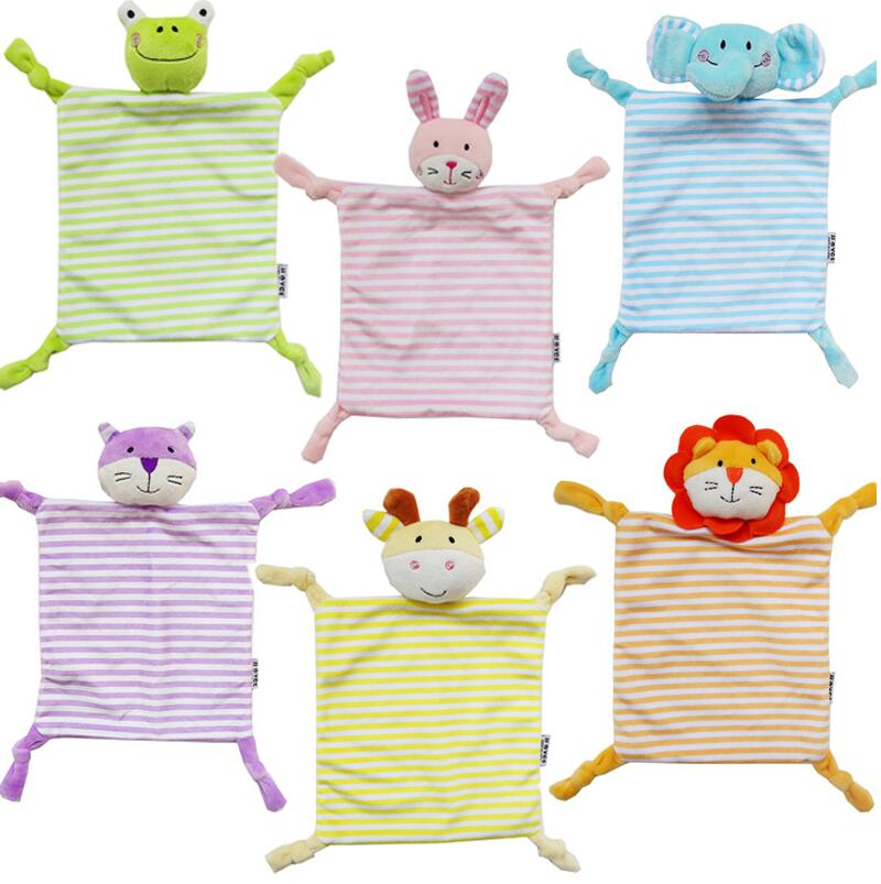JJOVCE Baby Toys Scarf Handkerchief animals stripes appease Towel Doll Gift For Soothe Calm Towel Educational Plush Toy 40% off cute sheep infant reassure towel newborn blankie baby appease towel educational plush rattle toy